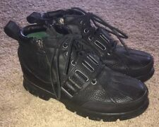 Polo Ralph Lauren Allendale Leather Black Lace Up Boots SZ 8 D