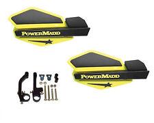 Powermadd Star Series Handguards Guards Yellow / Black Snowmobile Ski Doo Summit