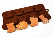 8 cell Grumpy Moody Cats Kittens Chocolate Candy Silicone Bakeware Mould Cake