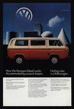 1982 VOLKSWAGEN VANAGON Diesel Bus - VW Van - Station Wagon - BUS - VINTAGE AD