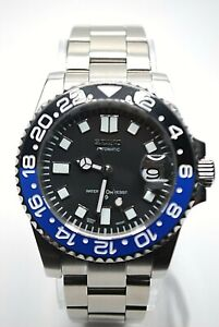 Seiko Batman Submariner Mod Homage Watch NH35A Automatic SKX
