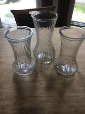 Lot of 3 Vintage  Glass Flower Vases Hoosier CFG PGC Napco E.O.Brody