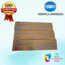 New Konica Minolta TN611C TN611Y TN611M Toner Set Bizhub C451, C550,C650