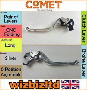 Ducati Monster 400 1999-2003 [Pliable Long Argent] [ Comet Course Levier]