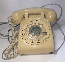 VINTAGE TAN ROTARY TELEPHONE ITT-FULLY FUNCTIONAL