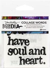 "Ranger Dina Wakley Media Collage Word Pack 3""X3"" 20/Pkg-#2"