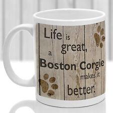 Boston CORGIE Dog Mug, Boston CORGIE Dog Poison, idéal Present for Dog Lover
