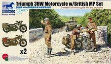 BRONCO CB35035 1/35 Triumph 3HW Motorcycle w/British MP Set