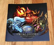 2008 Paris Blizzard Worldwide Invitational Artbook Booklet Diablo Starcraft WOW