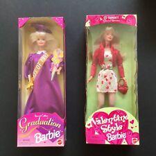 2 New Valentine Barbie Doll - Target Special Edition - Graduation Barbie Doll