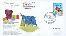"""PE593 FDC European Parliament """"Visit Amadou TOUMANI TOURE, President Mali"""" 2010"""