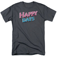 HAPPY DAYS TV Show Classic Neon LOGO Licensed T-Shirt All Sizes