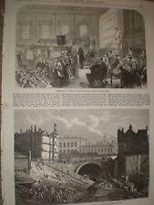 Works to the Baker street junction Metropolitan railway London 1868 print
