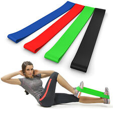 Set of 4 Resistance Loop Bands the BEST for Home Fitness Yoga Exercise Workout