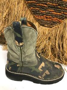 Ariat Kids Camo Cowboy Western Boot  style 32522y SZ 2
