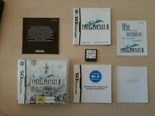 NINTENDO DS GAME FINAL FANTASY 3 III COMPLETE RARE - Good Condition
