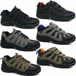 MENS HIKING BOOTS NEW WALKING ANKLE LACEUP SLIP ON TRAIL TREKKING TRAINERS SHOES