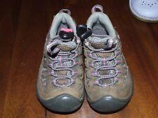 Keen Sz 8 Girl Walking Shoes Brown Pink Hiking Outdoors Sneakers Adjust Slip On