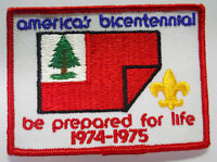 VINTAGE! Boy Scouts Patch-America's Bicentennial Be Prepared for Life 1974-1975