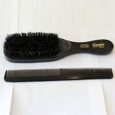 Top sale  fashionable Wave Brush 100% Natural Boarand Heavy Duty Pocket Comb set