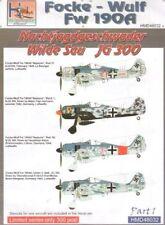 H-Model Decals 1/48 Focke-Wulf Fw 190A NJGschw Wilde Sau JG300, Pt.1 # 48032