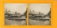 FRANCE Paris Exposition Universelle 1900 Pont Iena Publicité, Photo Stereo