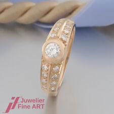 RING mit 17 Diamanten (Diamant) ges. 0,47ct - 18K/750 Gelbgold