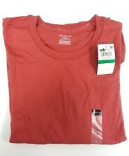 Alfani Red 100% Combed Cotton Short Sleeve T-Shirt Large