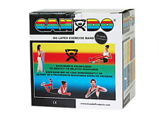 CanDo Latex Free Exercise Band-25 yard roll-Black-x-heavy-1364456 10-5635 NEW