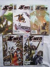 X-MEN FIRST CLASS : COMPLETE RUN of #s 1,2,3,4,5 by PARKER & CRUZ. MARVEL. 2007