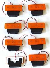 8 x 12v LED amber orange side marker light indicator trailer truck lorry van bus