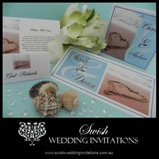 Heart in the Sand Beach Luxury Engagement Wedding Invitation - Sample DL Invites