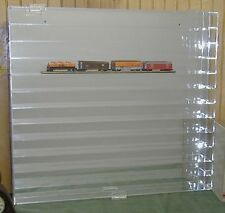 Acrylic Display Case N Model Train Holds 60 Made in USA New in Box