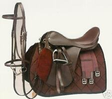 "17"" Leather English Saddle COMPLETE 6 piece Package, All Purpose ~ Great Starter"