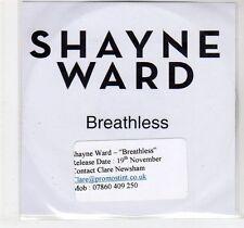 (EC846) Shayne Ward, Breathless - DJ CD