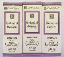Aromatique 3 Bottles BOTANICAL GARDEN Refresher Oil 0.5 oz