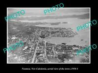 OLD LARGE HISTORIC PHOTO NOUMEA NEW CALEDONIA AERIAL OF THE CITY c1950 3