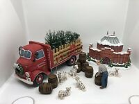 Budweiser Happy Holidays Delivery Truck 2012 Woodcut Sculpture Hawthorne Village