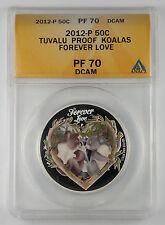 2012 Tuvalu Forever Love Koalas 1/2 oz .999 Silver Coin  ANACS NGC PCGS ICG PF70