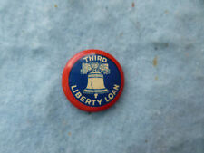 WWI 3rd Liberty Loan Liberty Bell Celluloid Button Pin Whitehead & Hoag