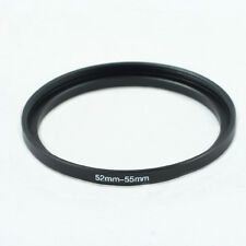 52-55mm 52mm to 55mm Step-up Metal Filter Adapter Ring Black 52-55