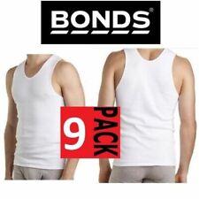 9 Pack X New Mens Bonds Cotton Chesty Singlet White Tank Underwear Tee Vest