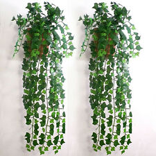 Artificial & Dried Flowers 2m Long Simulation Rattan Leaves Plants Green Ivy Leaf Fake Grape Vine Artificial Flower String Foliage Home Wedding Decoration Bright In Colour Artificial Decorations
