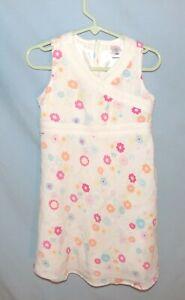 Timeless & Chic  Old Navy White Print Sun Dress Girls Size 4T