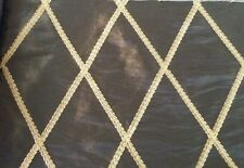 RM Coco De Gaulle Chocolate - Brown Fabric with Gold Embroidery