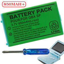 Rechargeable 3.7V 850mAh Battery+Screwdriver For Nintendo Gameboy Advance GBA SP