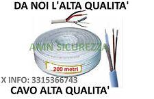 200 Metri Matassa Cavo Video Coassiale RG59 + alimentazione 2 Fili x Telecamere