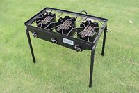 CONCORD Triple Burner Outdoor Stand Stove Cooker w/ Folded Flat Burner Head