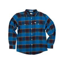 MATIX Perkins Flannel Shirt (S) Indigo