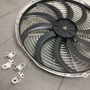 1934 Buick Series 50 16 Inch Chrome Radiator Fan gpi Chrome fast cooling slim